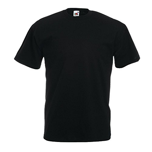 Fruit of the Loom Valueweight T-Shirt Schwarz M