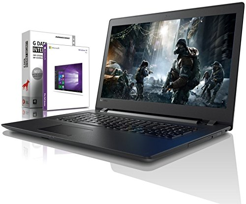 Lenovo (17,3 Zoll) Notebook (Intel Pentium 5405U 4-Thread CPU, 2.30 GHz, 8GB DDR4 RAM, 256GB SSD, 1000GB, DVD±RW, Intel HD, HDMI, Webcam, Bluetooth, USB3.0, WLAN, Win 10 Prof. 64, MS Office) #6477