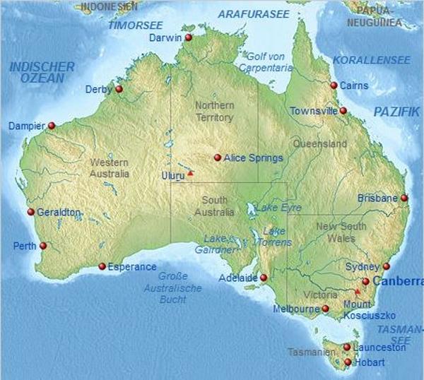 Australien Karte - FLF-Book