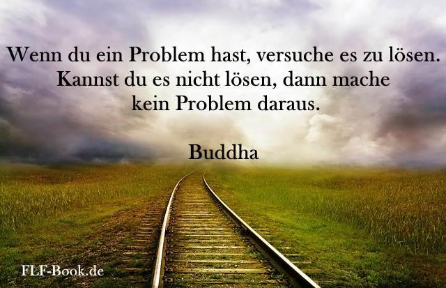 Wenn du ein Problem hast, versuche es zu lösen. Kannst du es nicht lösen, dann mache kein Problem daraus. Buddha